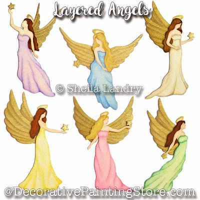 Layered Angel Ornaments ePattern - Sheila Landry - PDF DOWNLOAD