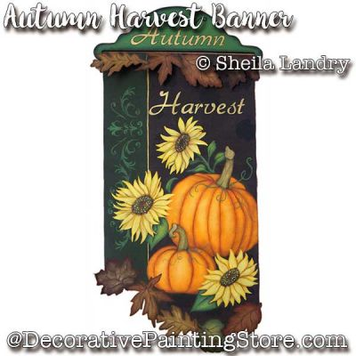 Autumn Harvest Banner ePattern - Sheila Landry - PDF DOWNLOAD