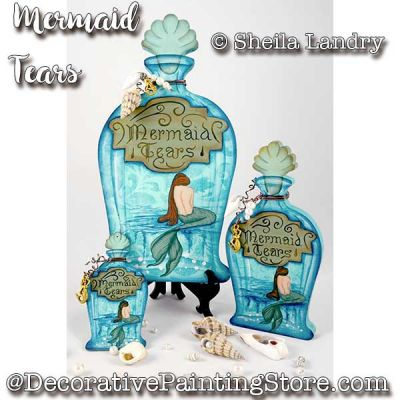 Mermaid Tears Potion Bottles ePattern - Sheila Landry - PDF DOWNLOAD