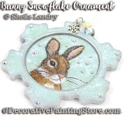 Bunny Snowflake Ornament ePattern - Sheila Landry - PDF DOWNLOAD