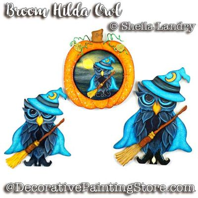 Broom Hilda Owl ePattern - Sheila Landry - PDF DOWNLOAD