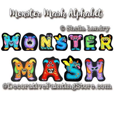 Monster Mash Alphabet ePattern - Sheila Landry - PDF DOWNLOAD