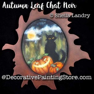 Autumn Leaf Chat Noir ePattern - Sheila Landry - PDF DOWNLOAD