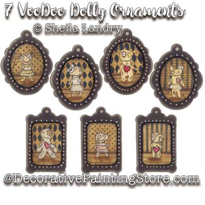 7 VooDoo Dolly Ornaments ePattern - Sheila Landry - PDF DOWNLOAD