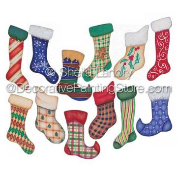 The Stockings Were Hung Ornaments ePattern - Sheila Landry