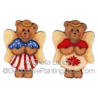 Patriotic Angel Bears Ornaments and Pins ePattern - Sheila Landry