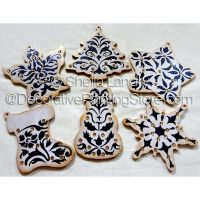 Traditional Damask Painted Ornaments ePattern - Sheila Landry