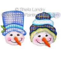Just Two Flakes Snowman Ornaments ePattern - Sheila Landry