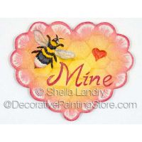 Bee Mine Ornament and Pin ePattern - Sheila Landry