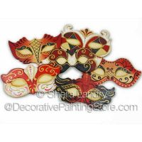 Romantic Masquerade Ornaments-Red Passion ePattern - Sheila Landry