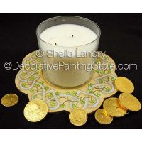 Celtic Knotted Hearts & Shamrocks Candle Tray ePattern - Sheila Landry