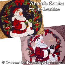 Wreath Santa DOWNLOAD Painting Pattern - Pat Lentine