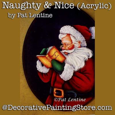 Naughty n Nice Acrylic DOWNLOAD Painting Pattern - Pat Lentine