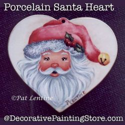 Porcelain Heart Santa DOWNLOAD Painting Pattern - Pat Lentine