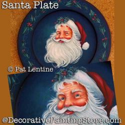Santa Plate DOWNLOAD Painting Pattern - Pat Lentine