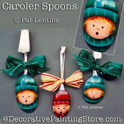 Caroler Spoons DOWNLOAD Painting Pattern - Pat Lentine