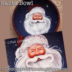 Santa Bowl DOWNLOAD Painting Pattern - Pat Lentine