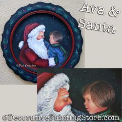Ava and Santa DOWNLOAD Painting Pattern - Pat Lentine