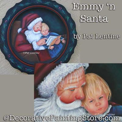 Emmy and Santa DOWNLOAD Painting Pattern - Pat Lentine