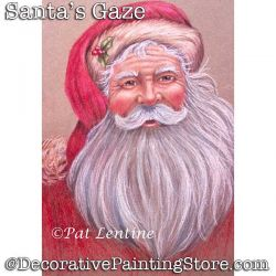 Santas Gaze Colored Pencil DOWNLOAD Painting Pattern - Pat Lentine