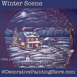 Winter Scene Colored Pencil DOWNLOAD Painting Pattern - Pat Lentine