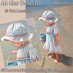 At the Beach Colored Pencil DOWNLOAD Painting Pattern - Pat Lentine