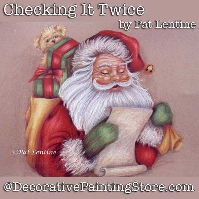 Checking It Twice Colored Pencil DOWNLOAD Painting Pattern - Pat Lentine