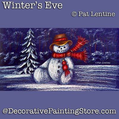 Winters Eve Colored Pencil DOWNLOAD Painting Pattern - Pat Lentine