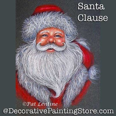 Santa Clause Colored Pencil DOWNLOAD Painting Pattern - Pat Lentine
