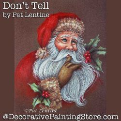 Dont Tell Colored Pencil DOWNLOAD Painting Pattern - Pat Lentine