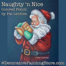 Naughty n Nice Colored Pencil DOWNLOAD Painting Pattern - Pat Lentine