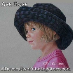 Ava Rose Colored Pencil DOWNLOAD Painting Pattern - Pat Lentine
