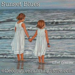 Sunset Blues Colored Pencil DOWNLOAD Painting Pattern - Pat Lentine