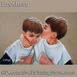 Brothers Colored Pencil DOWNLOAD Painting Pattern - Pat Lentine