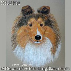 Sheltie Dog Colored Pencil DOWNLOAD Painting Pattern - Pat Lentine