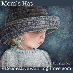 Moms Hat Colored Pencil DOWNLOAD Painting Pattern - Pat Lentine
