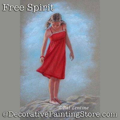 Free Spirit Colored Pencil DOWNLOAD Painting Pattern - Pat Lentine