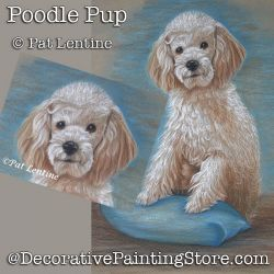 Poodle Pup Pencil DOWNLOAD Painting Pattern - Pat Lentine