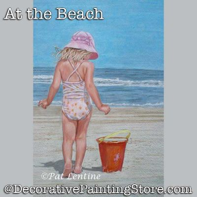 At the Beach 2 Colored Pencil DOWNLOAD Painting Pattern - Pat Lentine