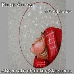 First Snow Colored Pencil DOWNLOAD Painting Pattern - Pat Lentine