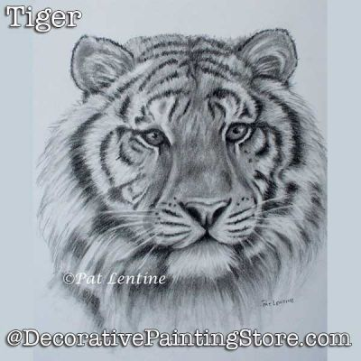 Tiger Pencil DOWNLOAD Painting Pattern - Pat Lentine