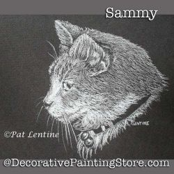 Sammy Cat Colored Pencil DOWNLOAD Painting Pattern - Pat Lentine