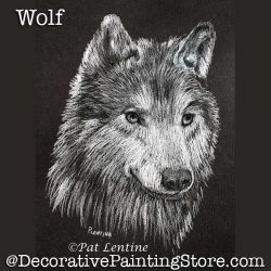 Wolf Colored Pencil DOWNLOAD Painting Pattern - Pat Lentine