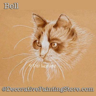 Bell Cat Colored Pencil DOWNLOAD Painting Pattern - Pat Lentine
