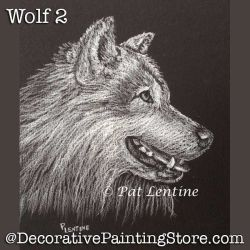 Wolf 2 Colored Pencil DOWNLOAD Painting Pattern - Pat Lentine