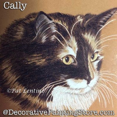 Cally Cat Colored Pencil DOWNLOAD Painting Pattern - Pat Lentine