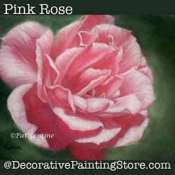 Pink Rose Pastels DOWNLOAD Painting Pattern - Pat Lentine