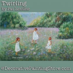 Twirling Pastels DOWNLOAD Painting Pattern - Pat Lentine