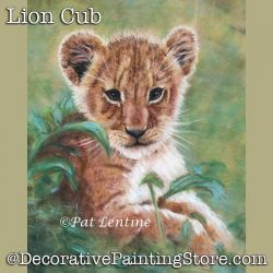 Lion Cub Pastel DOWNLOAD Painting Pattern - Pat Lentine