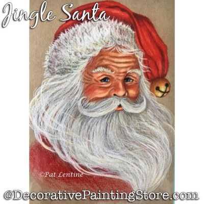 Jingle Santa (Colored Pencil) Painting Pattern PDF DOWNLOAD Painting Pattern - Pat Lentine